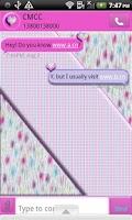 Screenshot of GO SMS THEME/PolkaDotFur4U