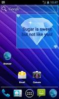 Screenshot of Cute SMS text on screen