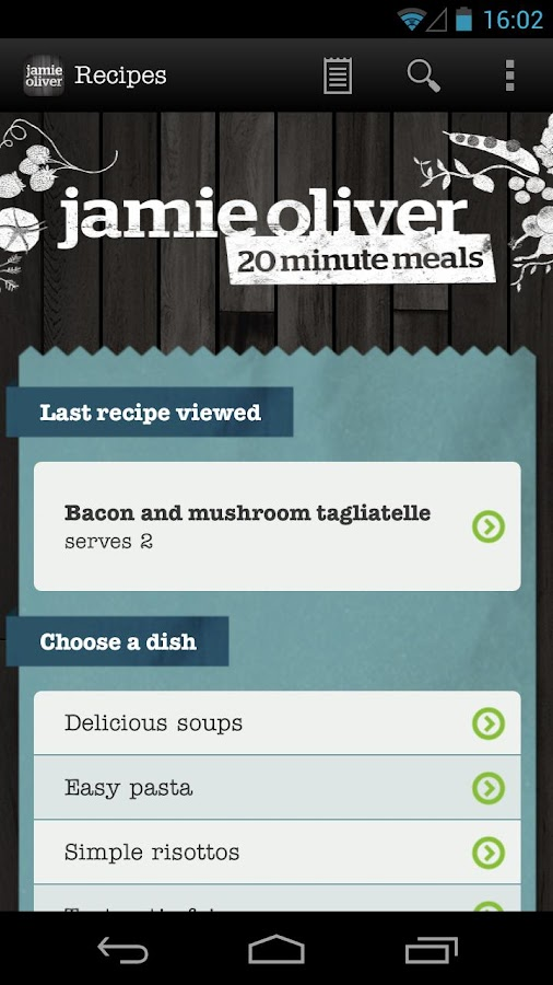 Jamie's 20 Minute Meals- screenshot