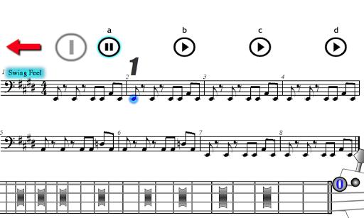 Play Electric Bass Blues Rock