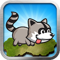 Raccoon running icon
