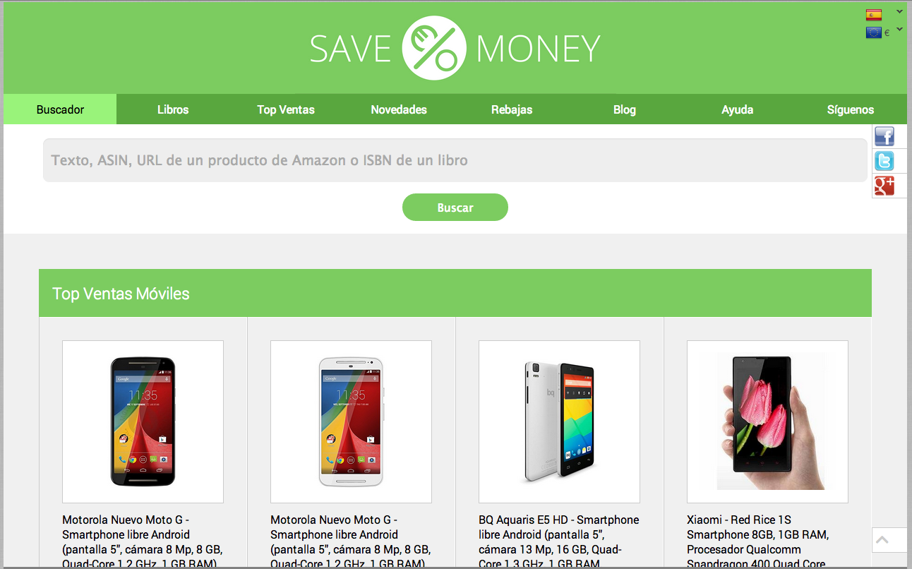 SaveMoney.es- screenshot