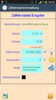 Screenshot of HB-Verbrauchszähler