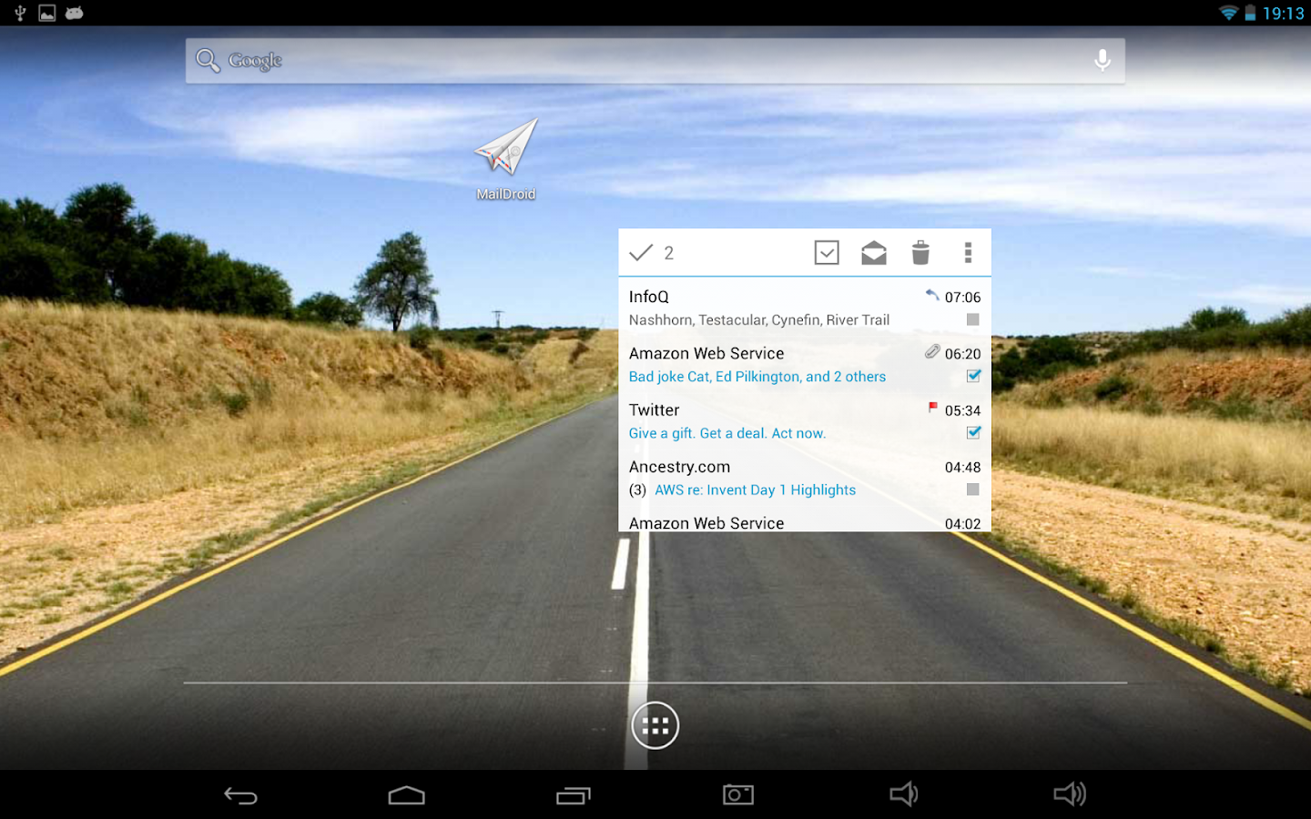 MailDroid Pro - Email Application- screenshot