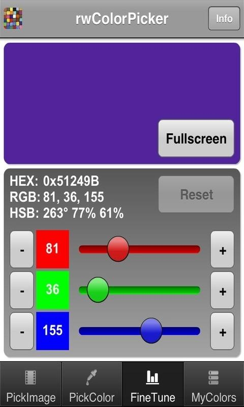 rwColorPicker - screenshot