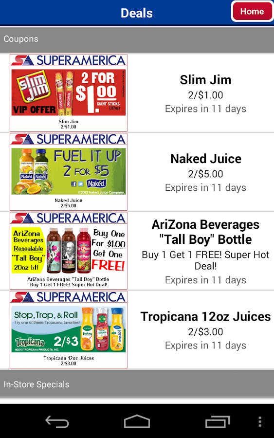SuperAmerica Deals - screenshot