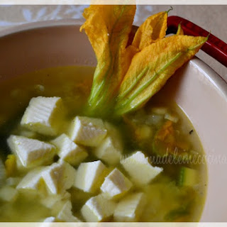 Zucchini and Corn Soup.