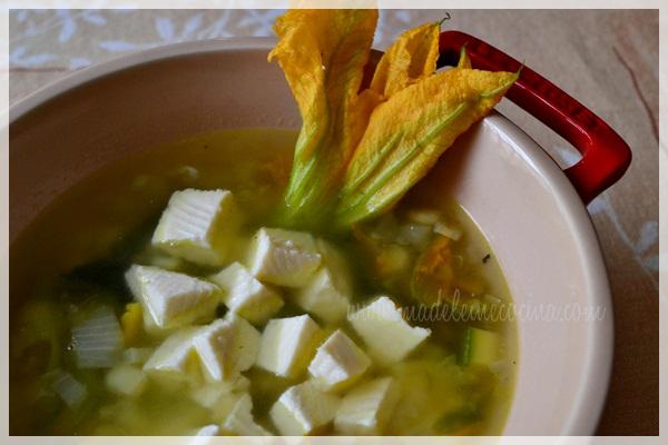 Zucchini and Corn Soup