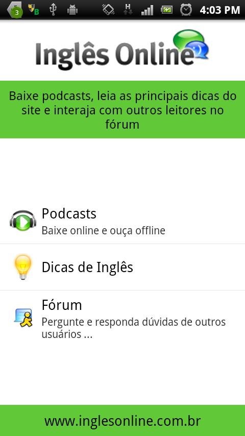 Inglês Online English Podcast- screenshot