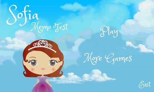 Princess Sofia Memo Test