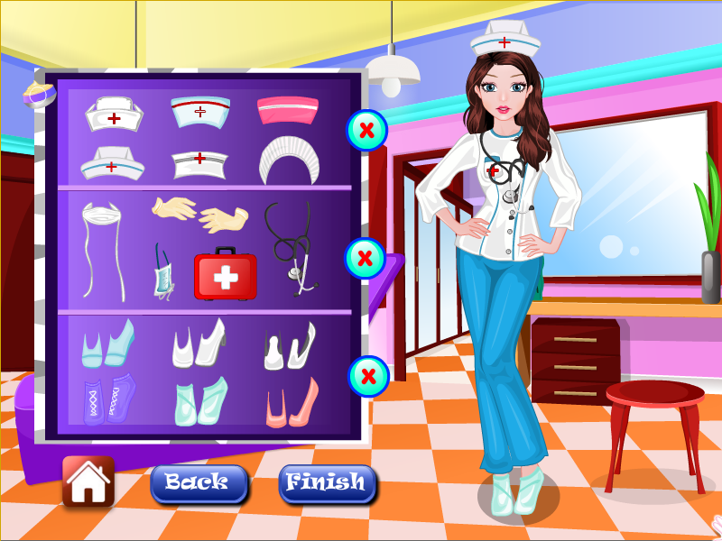 Nurse makeup girls games- screenshot
