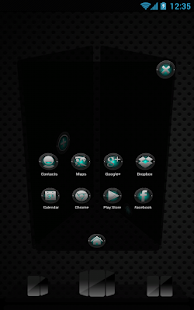 Next Launcher Black and Cyan - screenshot thumbnail