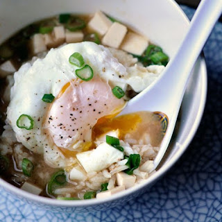 Miso Soup with Rice & Poached Egg