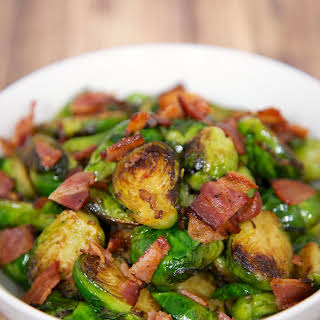 Sautéed Brussels Sprouts with Bacon.