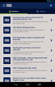 OHS Health & Safety PocketApp screenshot 0