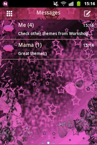 GO SMS Pink Dark Star Buy