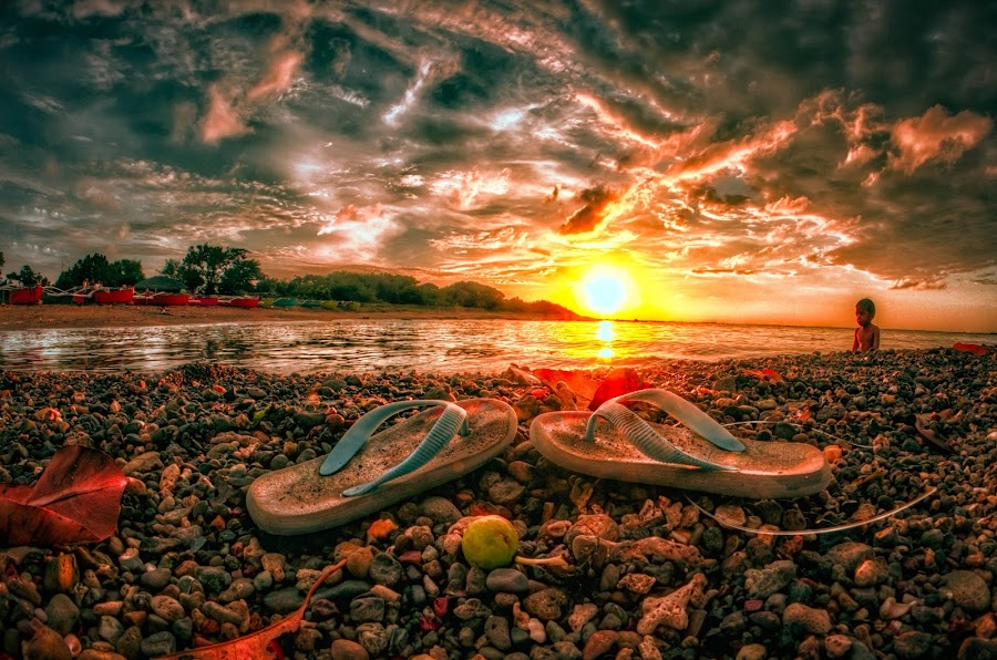 Slippers Sunset by Chase Alog - Landscapes Sunsets & Sunrises