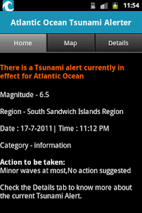 Atlantic Ocean Tsunami Alerter- screenshot thumbnail