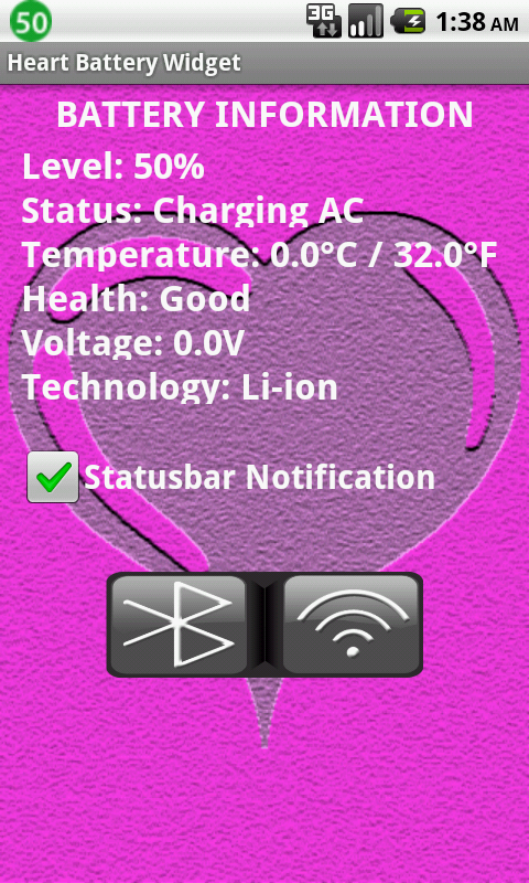 Heart Battery Widget - screenshot