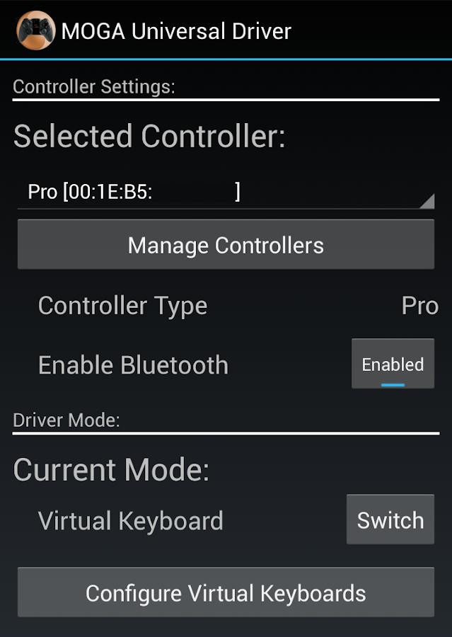 MOGA Universal Driver - screenshot