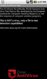 Zoner AntiVirus Test- screenshot thumbnail