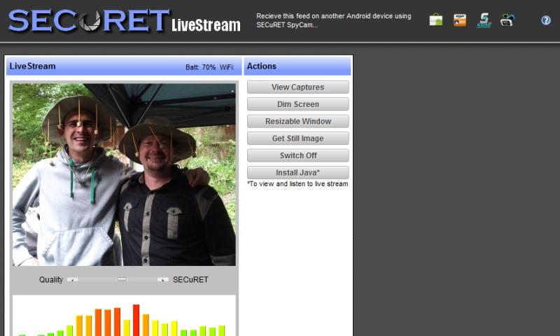 Camera WiFi LiveStream - screenshot
