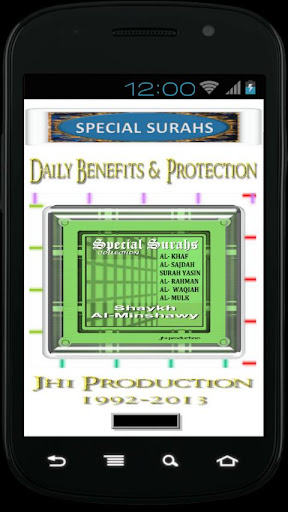 Al Minshawy Special Surahs