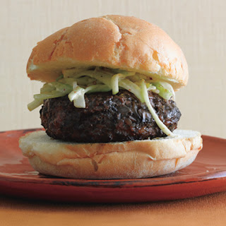 Portobello Buffalo Burgers with Celery Apple Slaw.