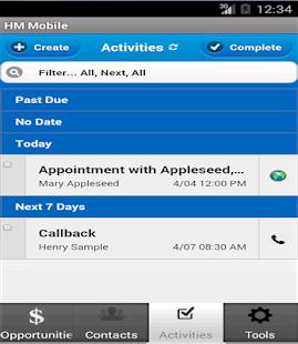 HM Mobile screenshot