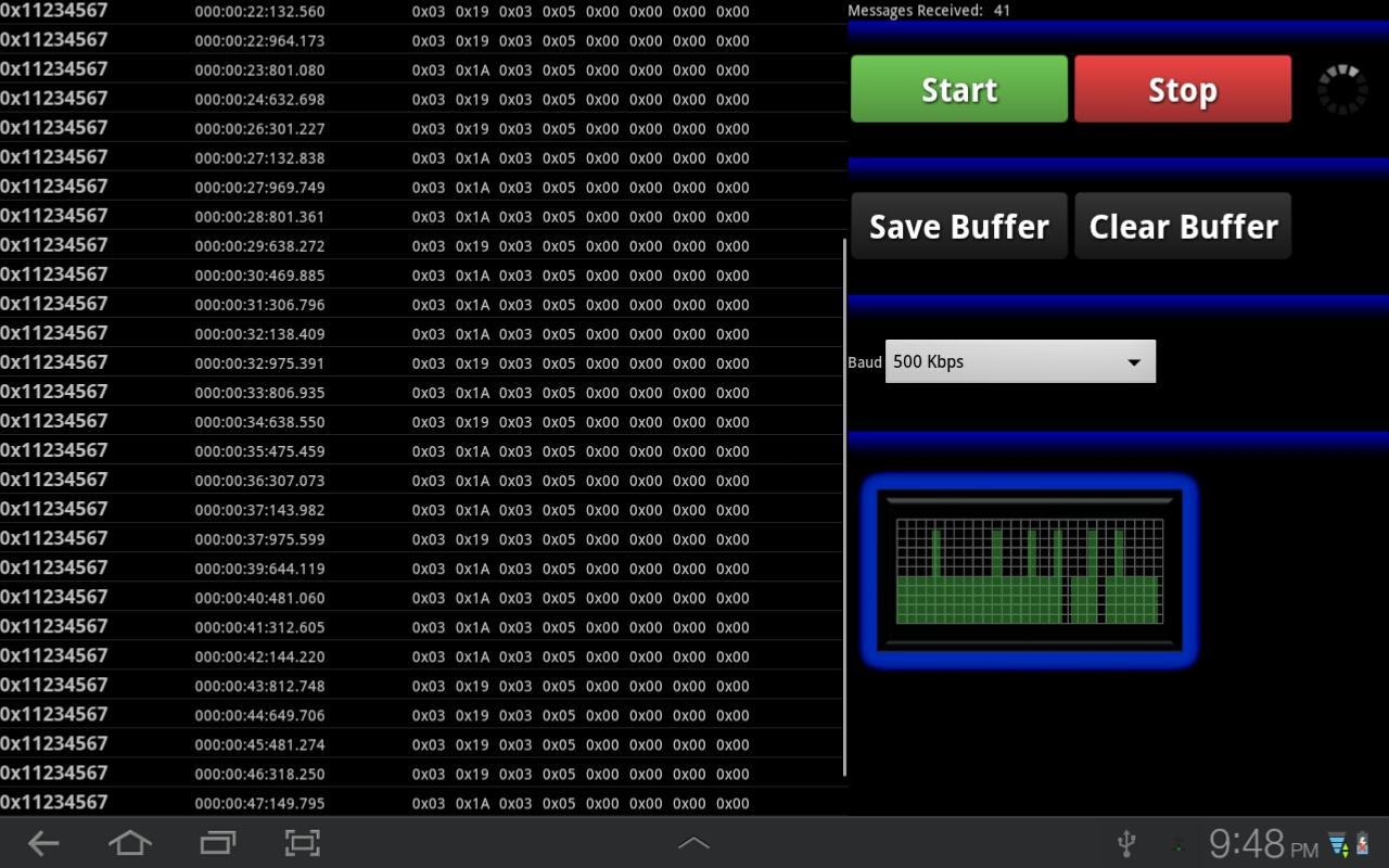 Bluetooth CAN Bus Analyzer- screenshot