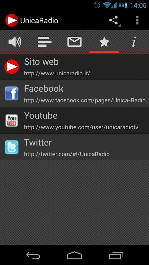Unica Radio - screenshot