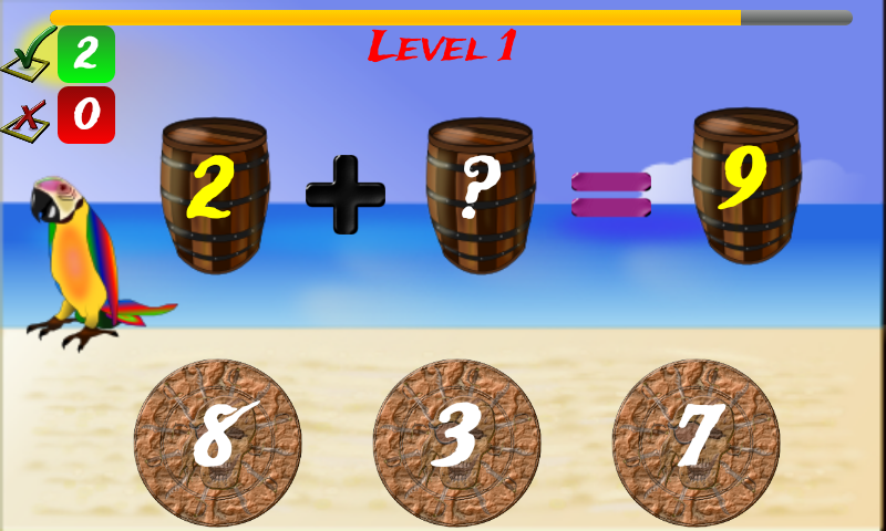 1st - 4th Grade Math Pirate- screenshot