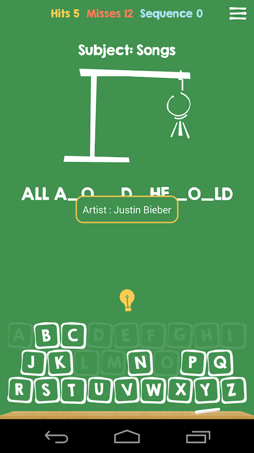 Hangman with Hints - Free - screenshot