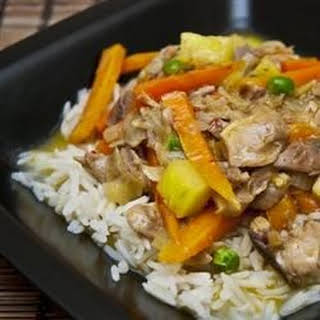 Thai Chicken Curry with Pineapple.