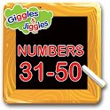 Numbers 31-50 for LKG Kids