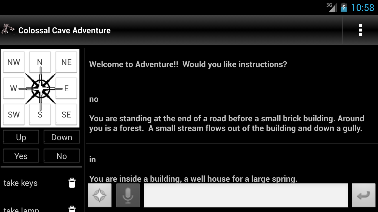 Colossal Cave Adventure- screenshot