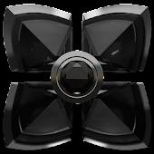 Next Launcher Theme Black Diam
