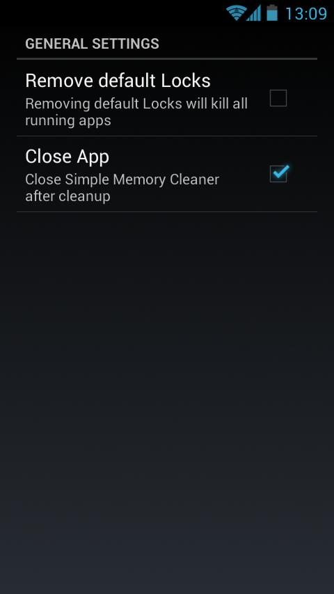 Simple Memory Cleaner - screenshot
