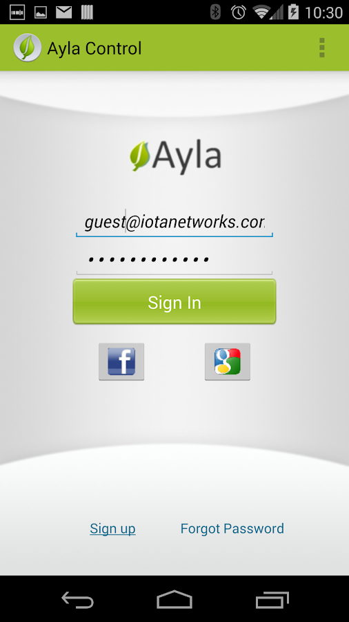 Ayla Control- screenshot