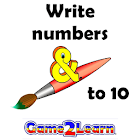 Write numbers to 10 icon