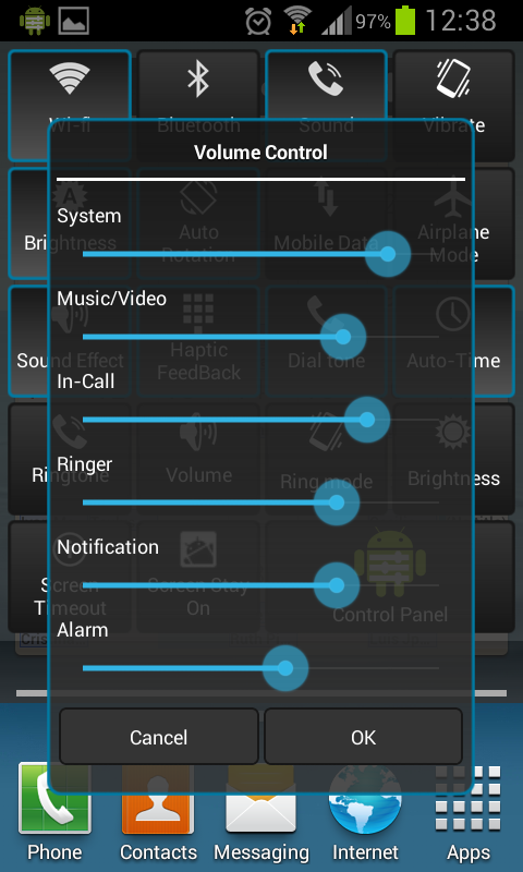 Control Panel - screenshot