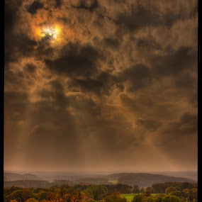 from Nedvězí by Petr Klingr - Landscapes Cloud Formations ( lights, crepuscular, hdr, autumn, nedvězí,  )