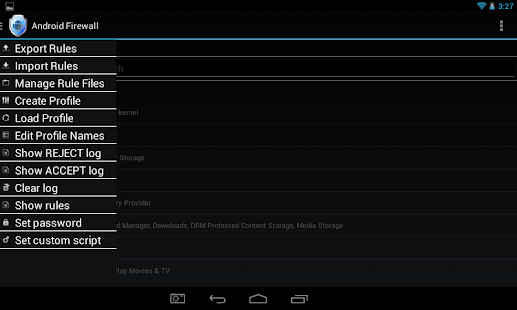 Android Firewall - screenshot thumbnail