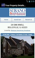 Screenshot of Strano&Associates Real Estate