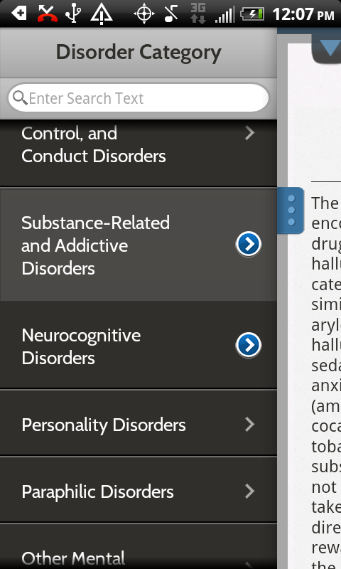 DSM-5 Diagnostic Criteria - screenshot
