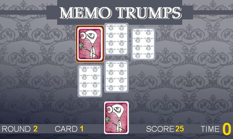 Memo Trumps - screenshot