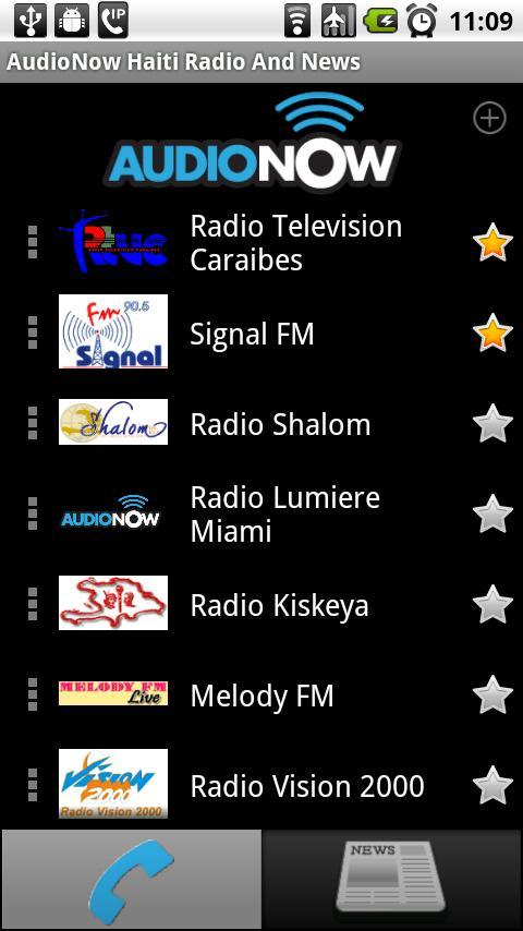 AudioNow Haiti Radio and News - screenshot