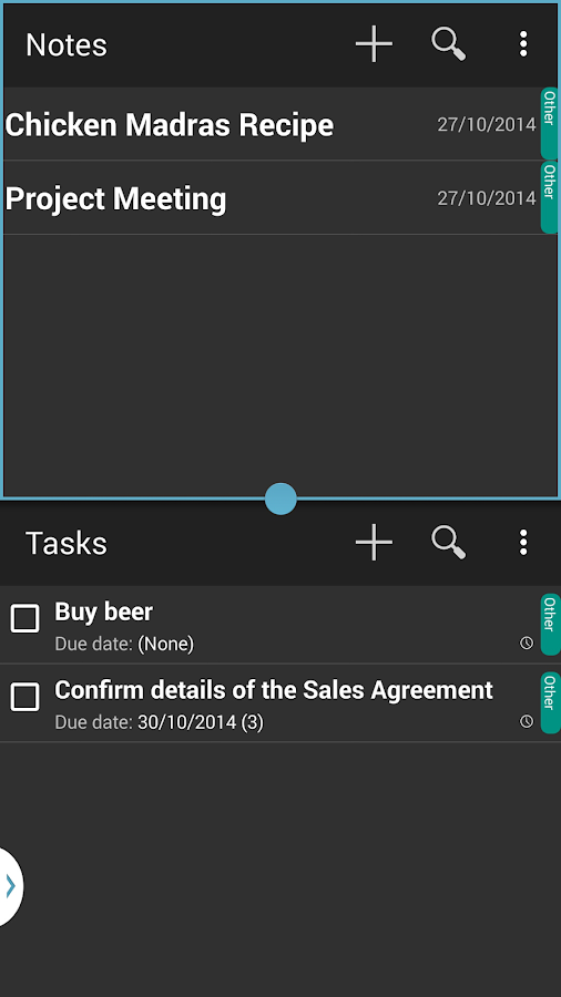 Local Sync (Task & Notes) - screenshot