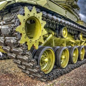 Retired Tank by David Kawchak - Transportation Other ( retired tank, tank treads, wwii tank, retired wwii tank, tank )