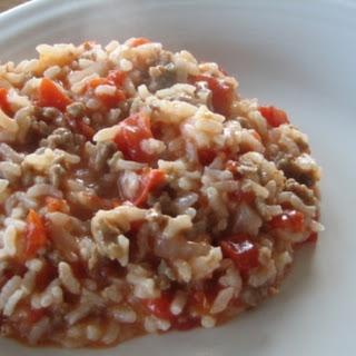 Oven Risotto With Sausage and Tomatoes
